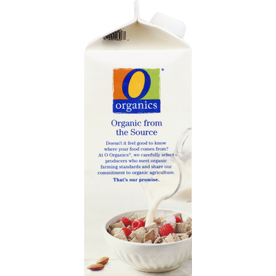 O Organics Almondmilk, Organic, Unsweetened, Plain