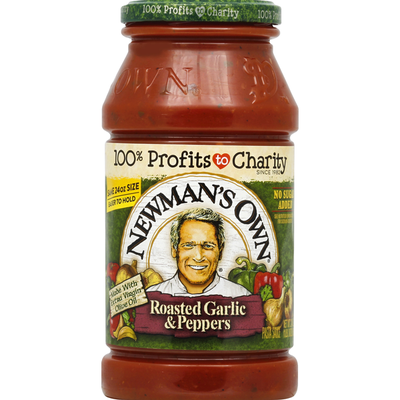 Newman's Own Pasta Sauce, Roasted Garlic & Peppers