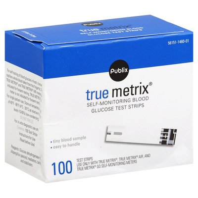 Publix Self-Monitoring Blood Glucose Test Strips, True Metrix