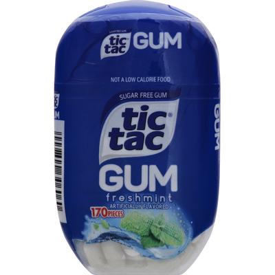 Tic Tac Gum, Sugar Free, Freshmint
