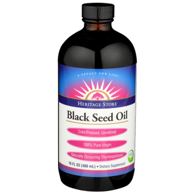 Heritage Store Black Seed Oil Dietary Supplement liquid