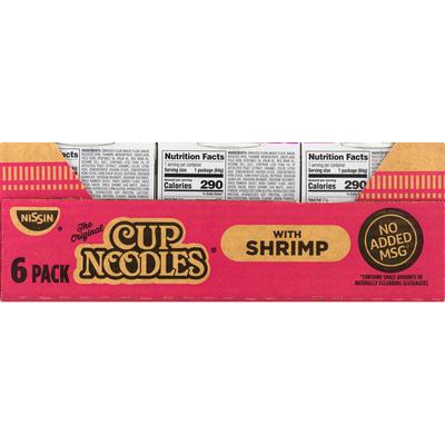 Nissin Soup, Ramen Noodle, with Shrimp, 6 Pack