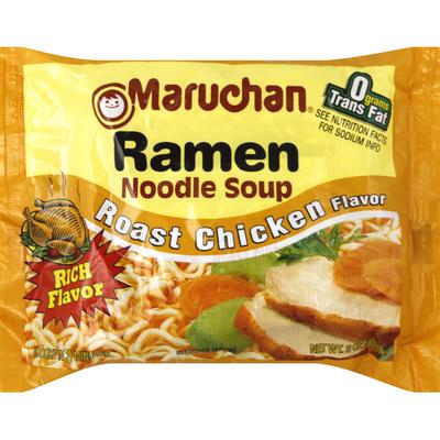 Maruchan Soup, Ramen Noodle, Roast Chicken Flavor