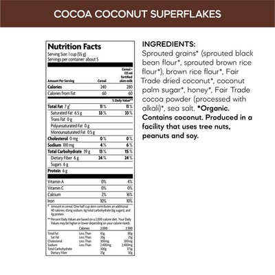 Nature's Path Qi'a Qia Superfood Superflakes Cocoa Coconut