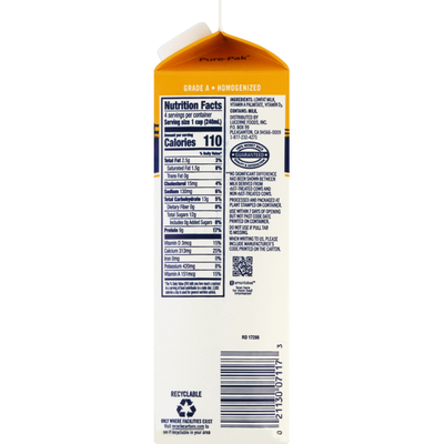 Lucerne Dairy farms Milk, Lowfat, 1% Milkfat