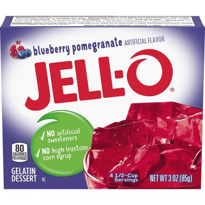 Jell-O Blueberry Pomegranate Gelatin Dessert Mix