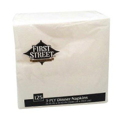 First Street Artstyle White Napkin 15x15