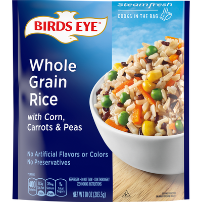 Birds Eye Selects Brown & Wild Rice with Corn, Carrots & Peas