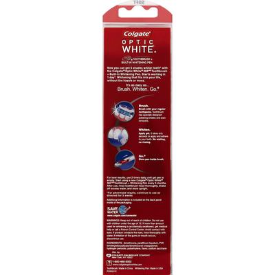 Colgate Toothbrush + Built-In Whitening Pen, 360 Degree, Soft