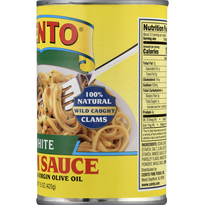 Cento Clam Sauce, with Extra Virgin Olive Oil, White