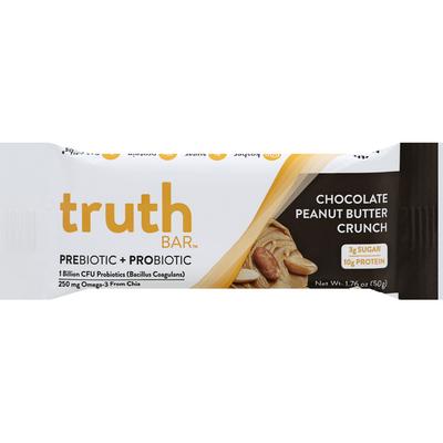 Truth Bar Prebiotic + Probiotic Bar, Chocolate Peanut Butter Crunch
