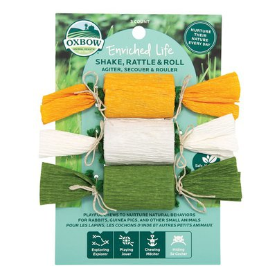 Oxbow Enriched Life Shake Rattle & Roll Toy for Small Animals