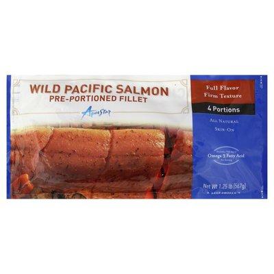 Aqua Star Wild Pacific Salmon, Pre-Portioned Fillet