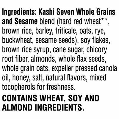 Kashi GO Breakfast Cereal, Vegetarian Protein, Fiber Cereal, Honey Almond Flax Crunch