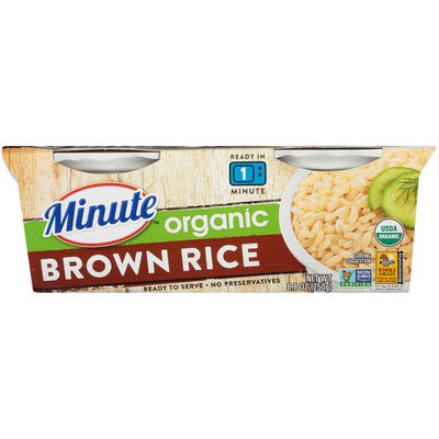 Minute Rice Ready to Serve Organic Brown Rice