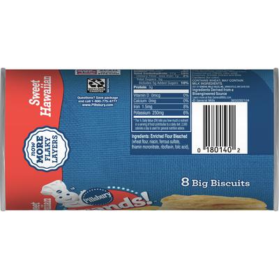 Pillsbury Grands! Sweet Hawaiian Flaky Biscuits, 8 Count