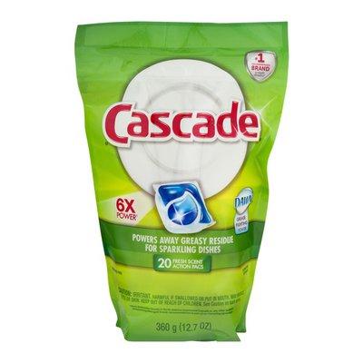 Cascade Dishwasher Detergent, Action Pacs, Fresh Scent
