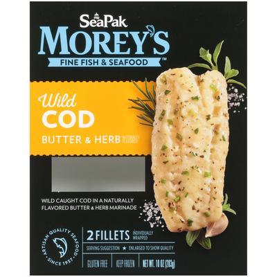 SeaPak Butter & Herb Wild Cod Fillets