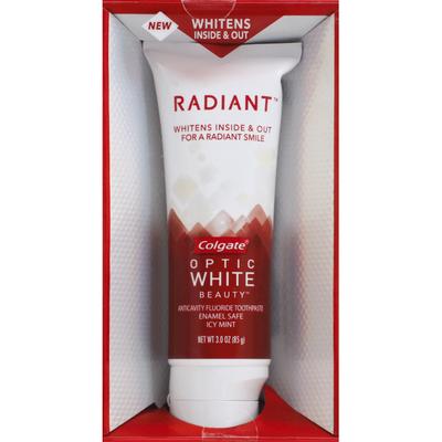 Colgate Toothpaste, Anticavity Fluoride, Radiant, Icy Mint