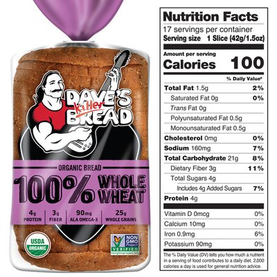 Dave's Killer Bread Whole Wheat Organic Bread
