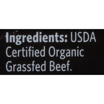 Organic Prairie Organic Grassfed Lean Fat Ground Beef