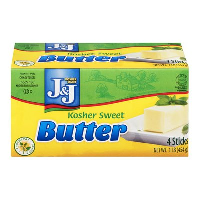 J&J Kosher Sweet Butter Sticks - 4 CT