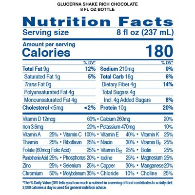 Glucerna Diabetes Nutritional Shake Rich Chocolate Ready-To-Drink Bottles