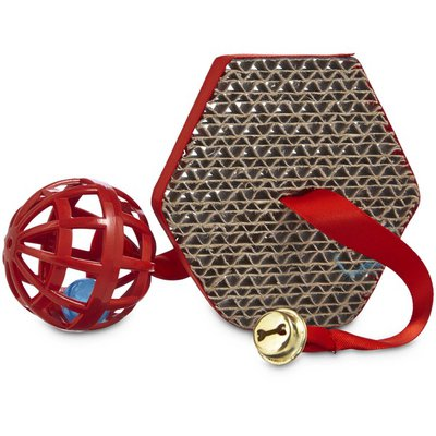 Leaps & Bounds Bu Scratch Post & Ball Cat Toy
