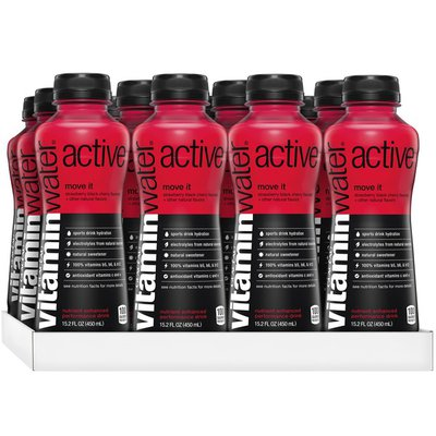 vitaminwater active strawberry black cherry sports drink w/ antioxidants and electrolytes