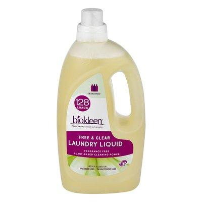 Biokleen Free & Clear Laundry Liquid Detergent 128 Loads