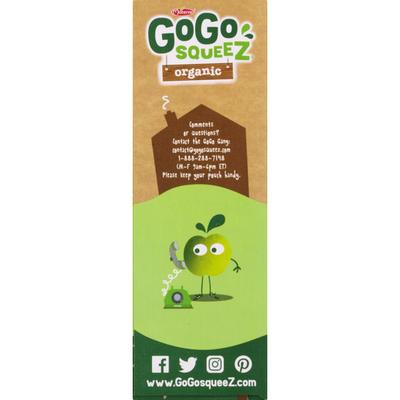 GoGo Squeez Organic Fruit On The Go Apple Apple