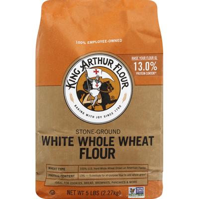 King Arthur Flour Flour, White Whole Wheat, Stone-Ground