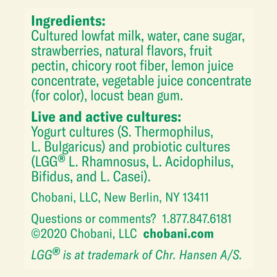 Little Chobani Probiotic Strawberry Yogurt Drinks