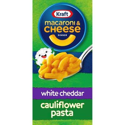 Kraft White Cheddar Macaroni & Cheese Dinner with Cauliflower Added to the Pasta