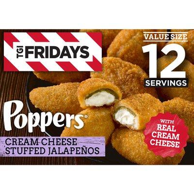 Tgif Cream Cheese Stuffed Jalapeno Poppers Value Size Frozen Snacks