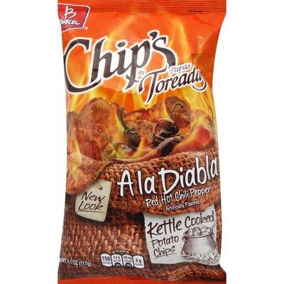 Barcel Potato Chips, Kettle Cooked, Ala Diabla