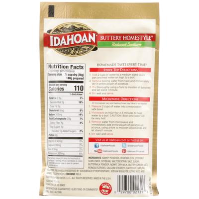 Idahoan Buttery Homestyle Reduced Sodium Mashed Potatoes