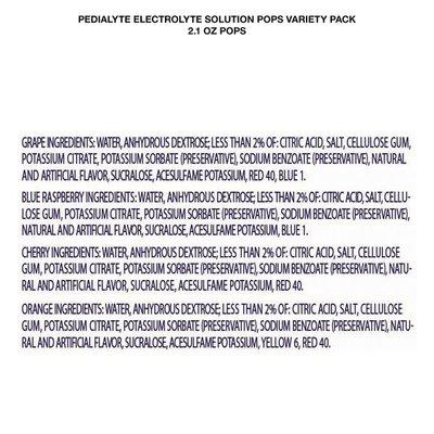 Pedialyte Electrolyte Solution Pops Variety Pack Pops