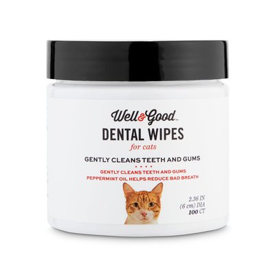 Well & Good Round Cat Dental Wipes