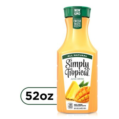 Simply Tropical Fruit Juice, All Natural Non-Gmo