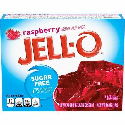 Jell-O Raspberry Sugar Free Gelatin Dessert Mix
