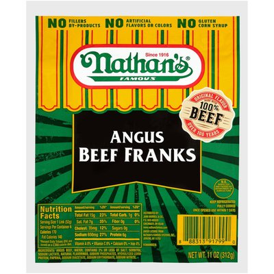 Nathan's Famous Famous Angus Beef Franks