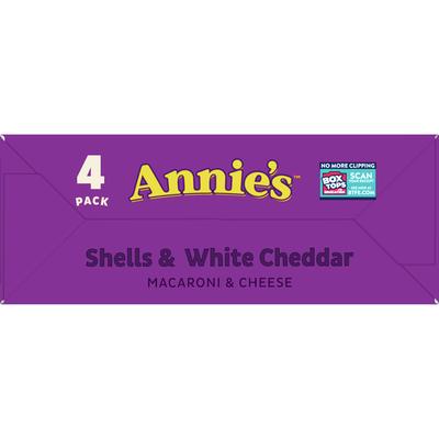 Annie's Macaroni & Cheese, Shells & White Cheddar, 4 Pack