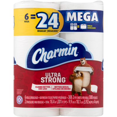 Charmin Ultra Strong Toilet Paper 6 Rolls