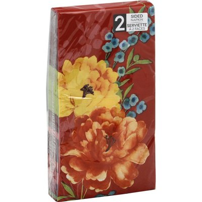 Sensations Napkins, 2 Sided, Beautiful Blossoms, 2 Ply