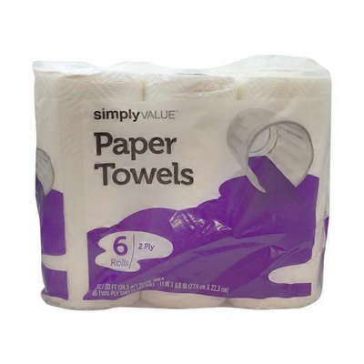 Simply Value Paper Towels, 2 Ply