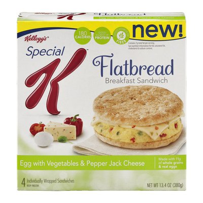 Kellogg's Special K Flatbread Egg with Vegetables & Pepper Jack Cheese Breakfast Sandwiches