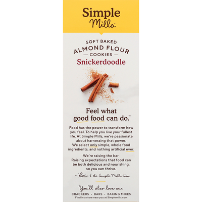 Simple Mills Snickerdoodle Soft Baked Almond Flour Cookies