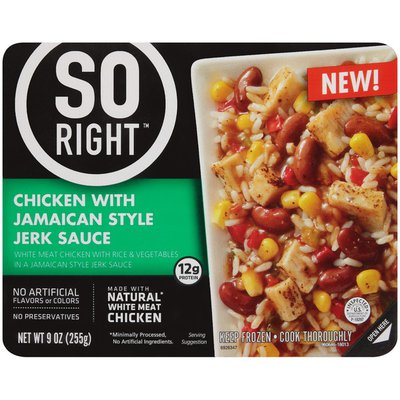 So Right Chicken with Jamaican Style Jerk Sauce Frozen Dinner