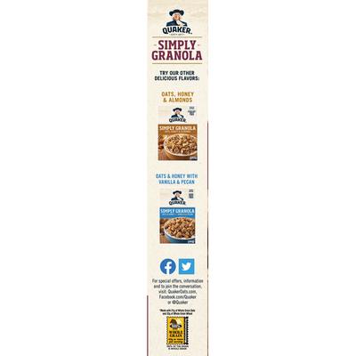 Quaker Simply Granola Oats/Honey/Raisins/Almond